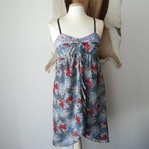 Kensie sleeveless patterned sundress